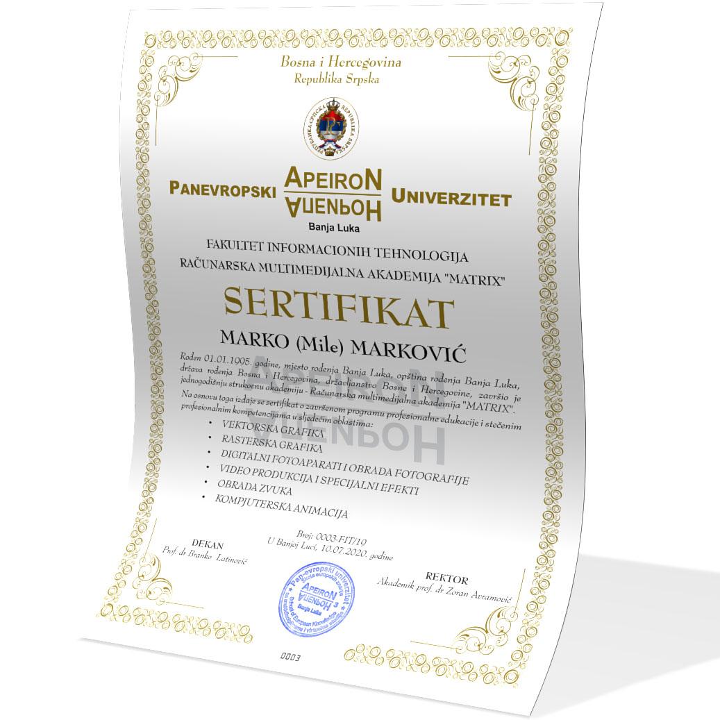 Matrix sertifikat