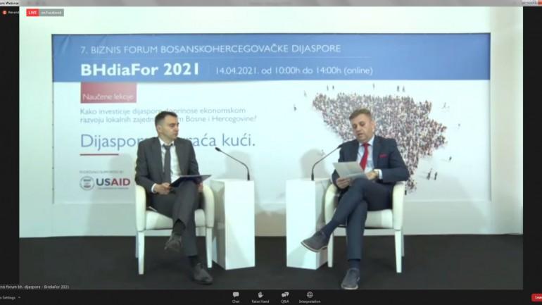PROREKTOR SANEL JAKUPOVIĆ I AMERIČKI AMBASADOR U BIH OTVORILI 7. BIZNIS FORUM DIJASPORE-3BHDIAFOR 2021